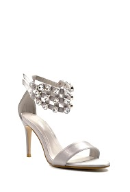 CHIC NANA sandals with satin effect heel