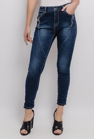 CHIC SHOP jeans with zip detail