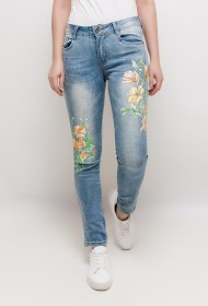 CHIC SHOP jean with printed flowers