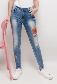 CHIC SHOP jeans with printed flowers