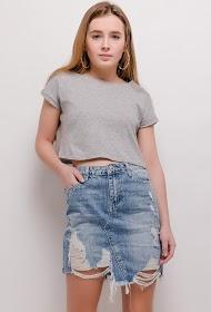 CHIC SHOP ripped denim skirt