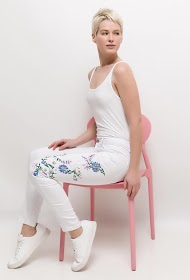 CHIC SHOP pants with printed flowers