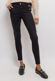 CHIC SHOP skinny pants with golden buttons