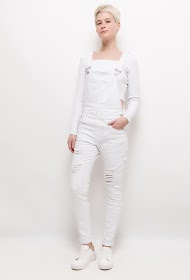 CHIC SHOP torn cotton overalls