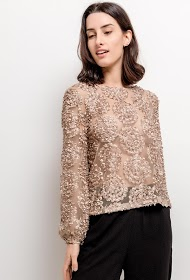 CHOKLATE textured blouse