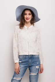 CHOKLATE lace effect bomber jacket