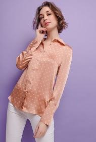 CHOKLATE satin polka dot shirt