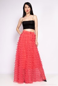 CHOKLATE tulle skirt with ruffles