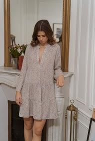 CHOKLATE loose printed dress