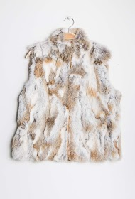 CHOKLATE sleeveless jacket in real fur