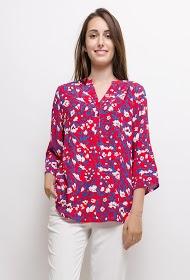 CHRISTY flower blouse