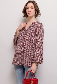 CHRISTY gold print blouse