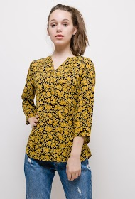CHRISTY blouse with flowers print