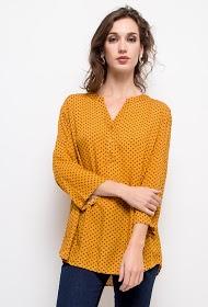 CHRISTY blouse met stippenprint