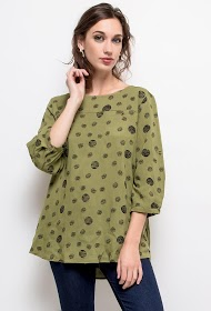 CHRISTY polka dot print blouse