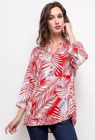 CHRISTY blouse met tropische print