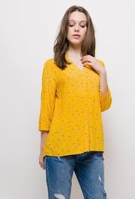 CHRISTY dot pattern blouse