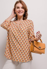 CHRISTY patterned blouse
