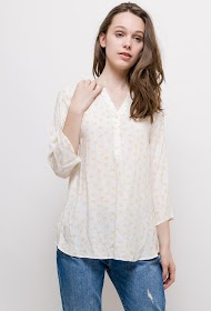 CHRISTY printed fluid blouse