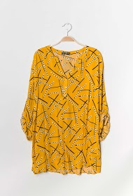 CHRISTY geprinte blouse