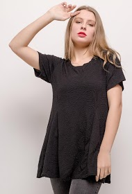 CHRISTY flared stretch blouse