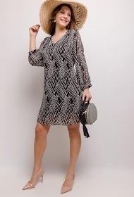CHRISTY jurk met print