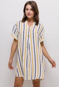 CHRISTY striped cotton dress