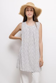 CHRISTY tunic with polka dots