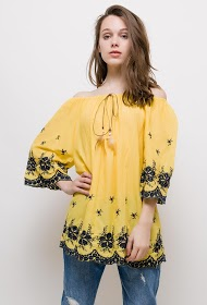 CHRISTY tunic with embroidery