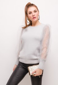 CIAO MILANO sweater with transparent sleeves