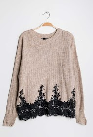 CIAO MILANO sweater with lace