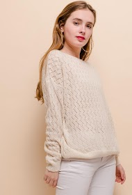 CIAO MILANO open knit sweater