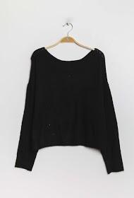 CIAO MILANO fine openwork sweater