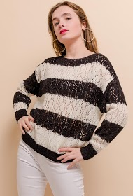 CIAO MILANO stribet sweater