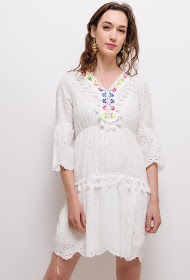 CIAO MILANO embroidered and perforated dress