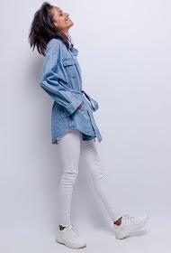 CIAO MILANO veste en jean avec ceinture