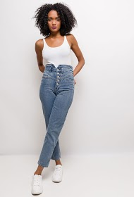 CIMINY high waisted buttoned jeans