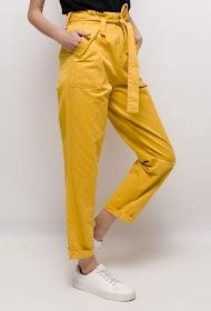 CIMINY straight pants, high waist