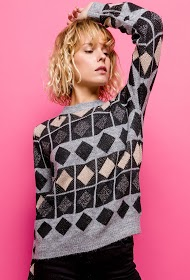 CIMINY shiny patterned sweater