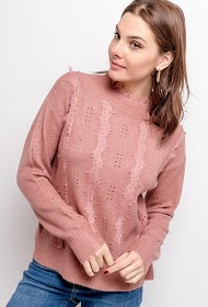 CIMINY sweater with perforated patterns