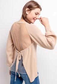 CIMINY bi-material sweater