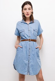 CIMINY jean-effekt-hemdkleid