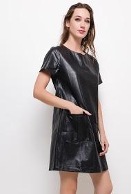 CIMINY imitation leather dress