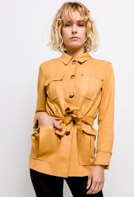 CIMINY suede trench coat