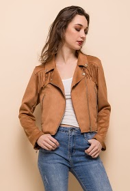 CIMINY suede effect jacket