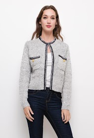 CIMINY knitted jacket with lurex