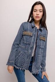 CIMINY zipped jacket with embroidery