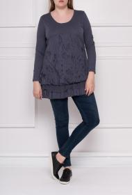 CO2 GRANDES TAILLES slub cotton tunic