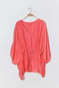 COLYNN loose silk blouse