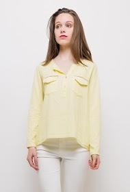 COLYNN bi-material blouse